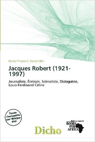 Livres gratuits Jacques Robert (1921-1997) epub pdf