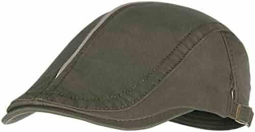 46b2be913ad Bodvera Men s Cotton Flat Ivy Gatsby Newsboy Driving Hat Summer Beret  Cabbie Cap