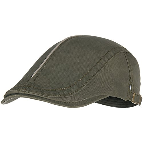 - Bodvera Men's Cotton Flat Ivy Gatsby Newsboy Driving Hat Summer Beret Cabbie Cap, Army Green