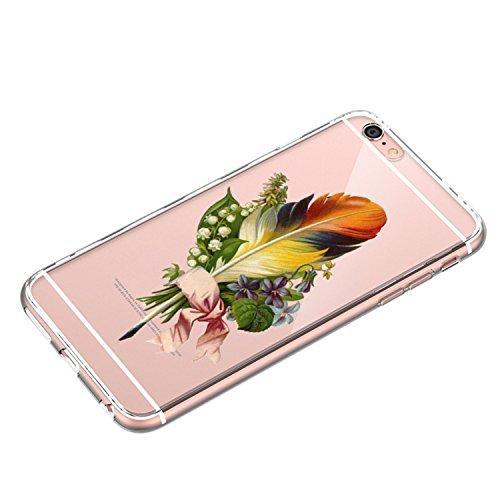 Funda iPhone 6 Plus iPhone 6s Plus Carcasa Silicona Gel Mate - Wouier® Case Ultra Delgado TPU Goma Flexible Transparente UltraSlim Case Cover Skin para iPhone 6 Plus iPhone 6s Plus H