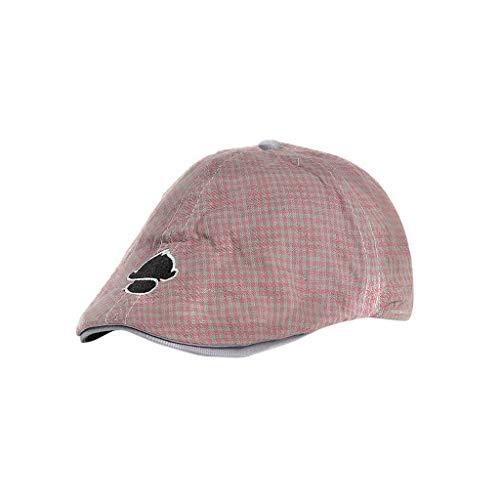 Haluoo Baby Boy's Hat, Kids Wool Tweed Flat Cap Boy Girl Herringbone Newsboy Caps Infant Toddler Child Youth Beret Cabbie Hat Ivy Gatsby Cap for Toddler Pageboy (Pink)