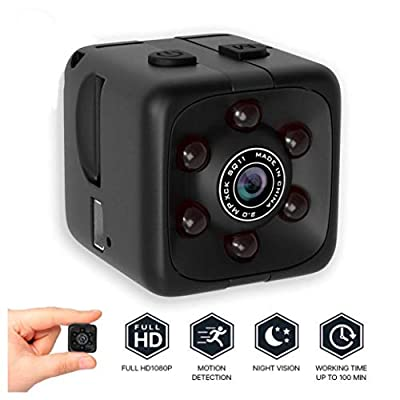 Action spy Hidden Mini HD Chargeable Camera Ideal for Security surviellence with Night Vision and Motion Detection Perfect for Dashboard Outdoors Drone Nanny Camera by TECK VALUE