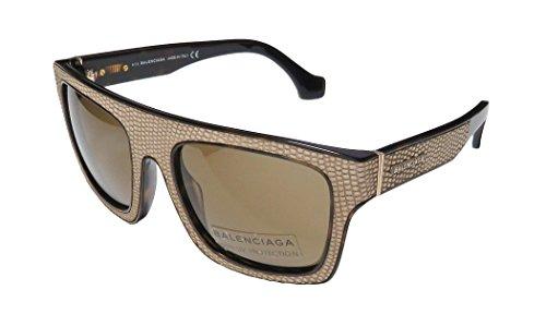 Square Straight Brow Lizard-embossed Sunglasses, Dark - Lizards Sunglasses