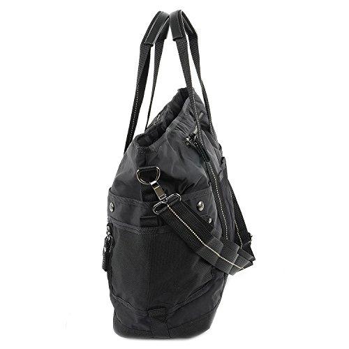 George Gina & Lucy Qukoo Nylon Tin Der Ella Bolso shopping negro