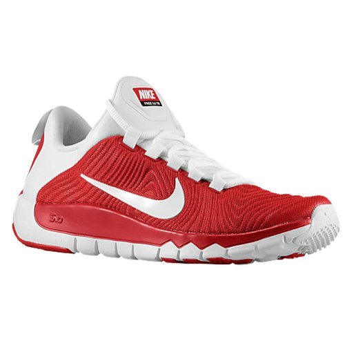 Men's Nike Free Trainer 5.0 TB Running Shoes Gym Red/White 644676-610 (11.5)