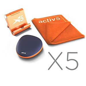 Activ5 Isometric Based Exercise No Impact Muscle Activation Portable Full Body Workout and Strength Training Device with Free Coaching App