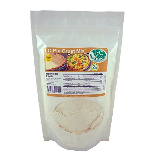 Low Carb Pie Crust Mix - LC Foods - All Natural - No Sugar - Diabetic Friendly - 11.5 oz ()