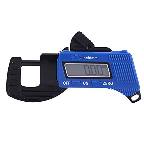 Portable Handheld 0.1mm Precision Plastic Digital Thickness Guage LED Display Capliper Meter Metal Tester Micrometer 0 to 12mm/0.5