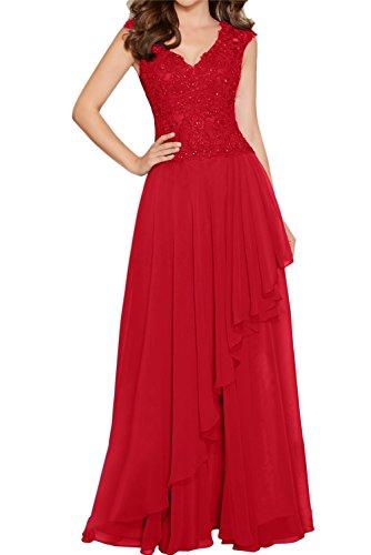 para Vestido Mujer Rojo Topkleider Trapecio qd0wWE