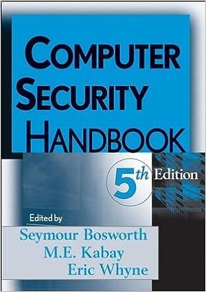 computer security h andbook bosworth seymour kabay m e