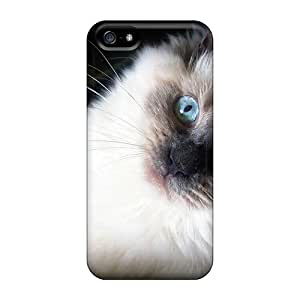Defender Cases With Nice Appearance (himalaya Blue Eyed Cat) For Iphone 5/5s
