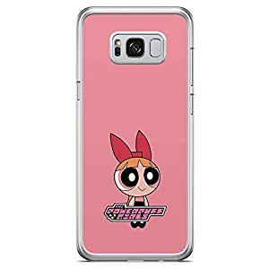 Loud Universe Pink Cute Power Puff Girl Samsung S8 Plus Case Pink Cartoon Classic Samsung S8 Plus Cover with Transparent Edges