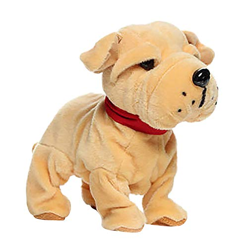 Gotian Interactive Robot Dog Electronic Plush Toy Walk Sound Bark Stand for Kids Gift ()