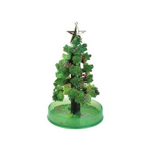 Generique - Wachsender Weihnachtsbaum grü n-Silber 15cm MAGICXMASTREE 07409