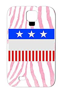 TPU Black Shock-absorbent Case Cover For Sumsang Galaxy S4 Cities Countries Flags Us Ss 004 3c