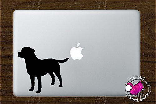 Labrador Retriever Silhouette BLACK Vinyl Decal for 13 Inch Laptop