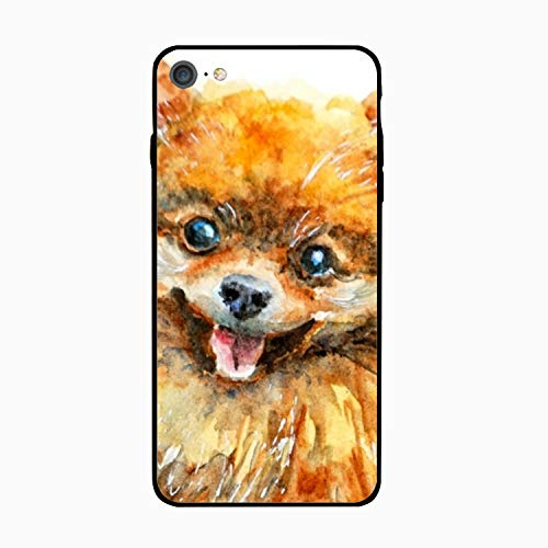 iPhone 6S Case for Girls/iPhone 6 Case, Happy Pomeranian Puppy Slim-Fit Shock Proof Anti-Finger Print Gel Case for iPhone 6S/iPhone 6 ()