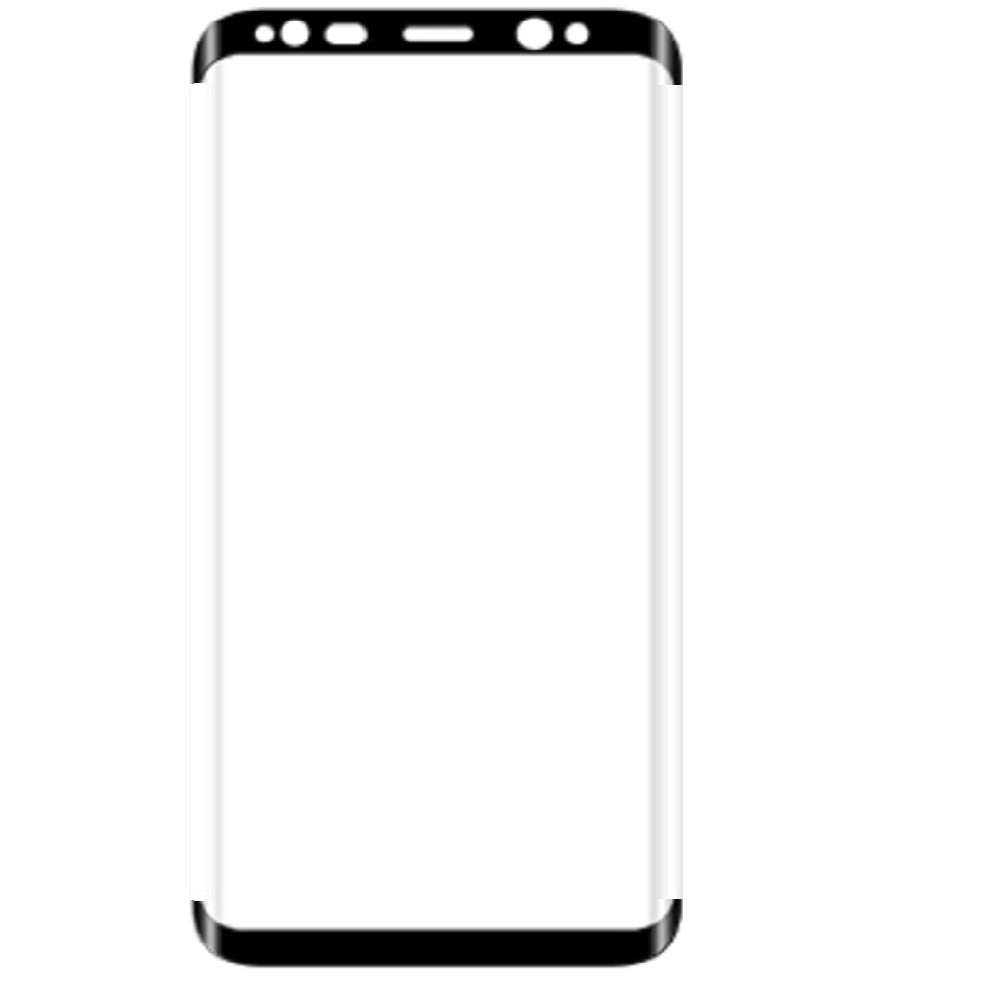 Wenquan,Curved Tempered Glass Protective Film For Samsung S8 (Straight Side No Windows)(color:BLACK,size:0.33)