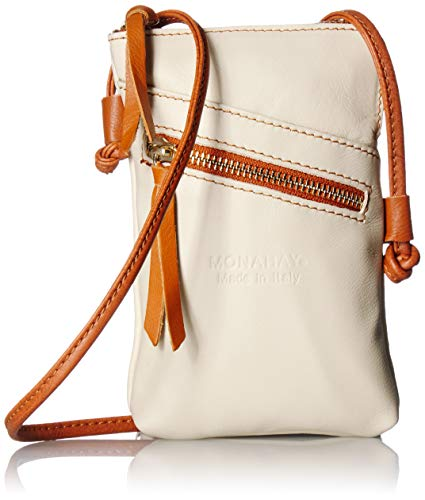 MONAHAY Small Italian Leather Cross Body Cell Phone and Passport Travel Pouch Bag MH9723 ... - Passport Large Calf Case