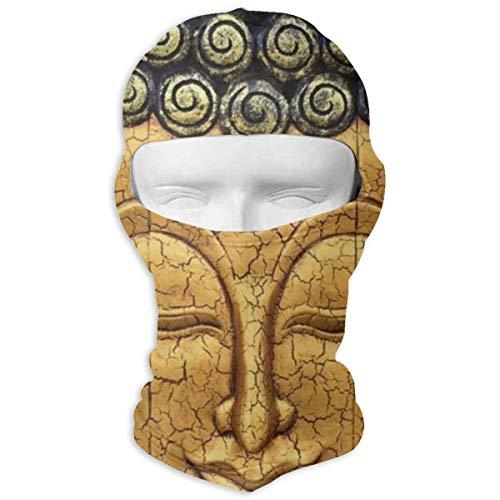 Leopoldson Gold Buddha Balaclava UV Protection Windproof Ski Face Masks Full Face Mask Breathable -