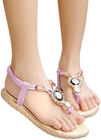 69c4e1a361f7 SUNyongsh Kids Summer Sandals Children s Slippers Baby Girls Bohemia  Crystal Flats Beach Princess Shoes Casual Mules