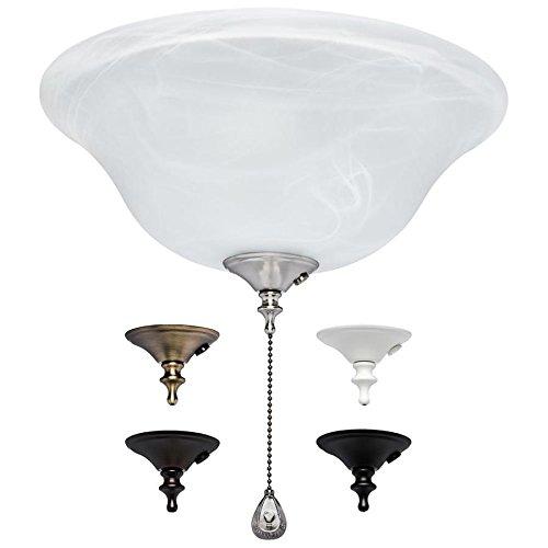 Harbor Breeze 3-Light Alabaster Incandescent Ceiling Fan Light Kit with Alabaster Shade