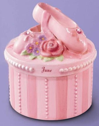 (A Time to Dance Classics June Ballerina Trinket Box by Russ)