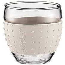 Bodum Pavina Espresso Glass - Silicone Grip - White