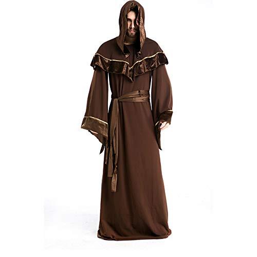 Cosplay Hechicero Código Material Capa Gxfcff Adulto Disfraces De Halloween Batas Ropa Mago Poliéster Muerte TdxxpWO