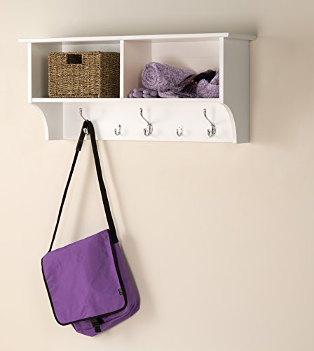 Prepac 36'' Hanging Entryway Shelf, White by Prepac