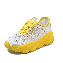 Rhinestones Breathable Running Sports Shoes