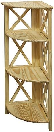 Cheap Casual Home Montego 3-Shelf Corner Folding Bookcase modern bookcase for sale