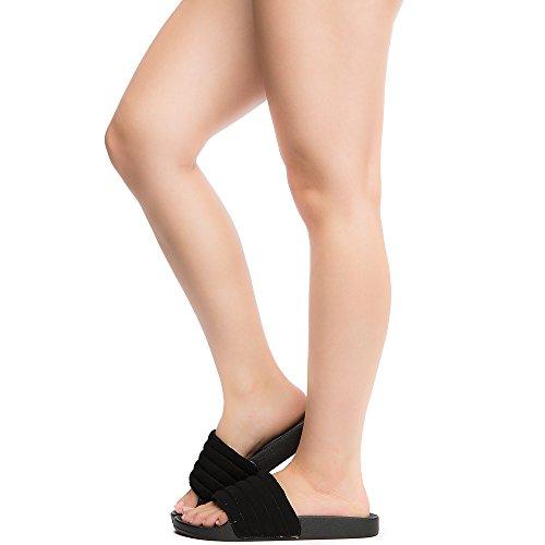 Bamboo Womens Cozy-31S Slide Sandal Black