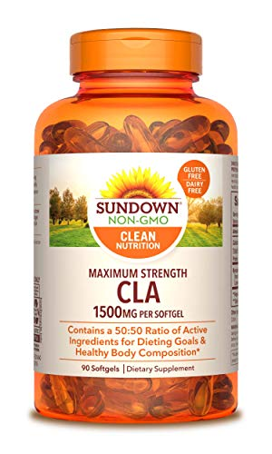 (Sundown Naturals Maximum Strength CLA 1500 mg, 90 Softgels)