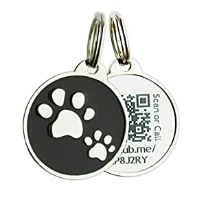 PINMEI Zine Alloy Scannable QR Code Pet Dog Cat ID Tag, Powered by PetHub