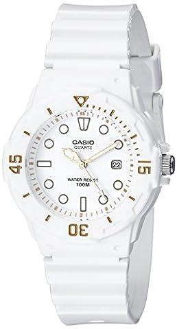 Casio Women's LRW200H-7E2VCF Dive Series Diver-Look White Watch (Sport Watches Womens White)