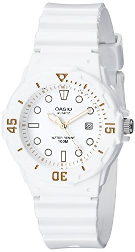 Casio Women's LRW200H-7E2VCF Dive Series Diver-Look White Watch