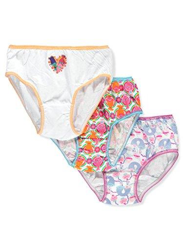 Dreamworks Trolls 3-Pack Girl Panties Underwear Poppy Branch Guy Diamond Satin & Chenille