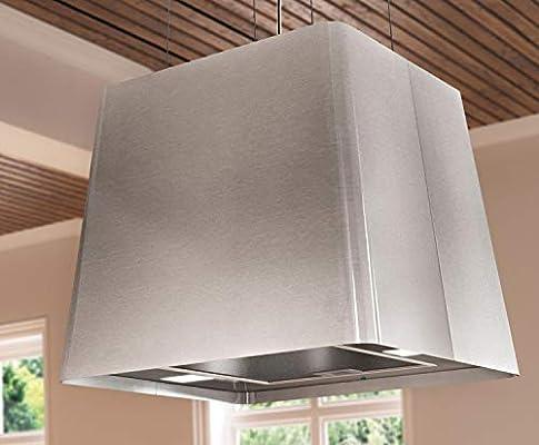 553419 - Campana extractora (45 x 45 cm, acero inoxidable, con mando a distancia): Amazon.es: Grandes electrodomésticos
