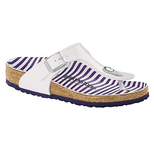 - Birkenstock Gizeh Kid's Stripes White Birko-Flor Sandals 31 EU (US 13-13.5 Little Kid)