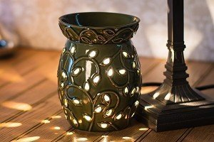 Ceramic Lamp Warmer, Green