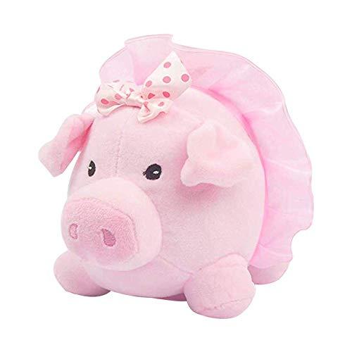 8' Ballerina Piggy Bank W/Sound in Pink Tutu
