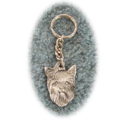 YORKIE Dog Fine Pewter Keychain Key Chain Ring NEW
