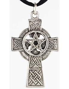 Celtic Cross Pentagram Pendant