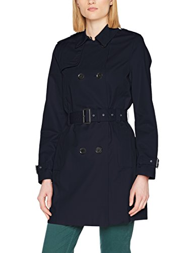 Esprit, Manteau Femme Bleu (Navy 400)
