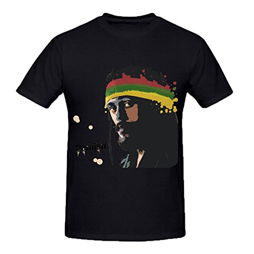 Timico Damian Marley Album Personalized Men Tshirts Black (How Long Is A Light Year)