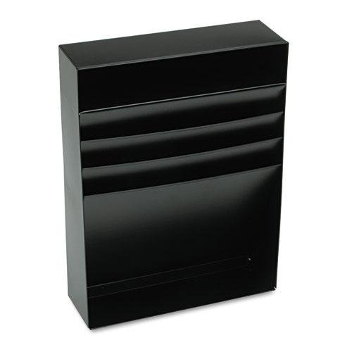 Steel 3 Compartment Desk Drawer - STEELMASTER 3-Compartment Desk Drawer Stationery Holder, 11.38 x 3.75 x 15 Inches, Black (271R2S15BK)