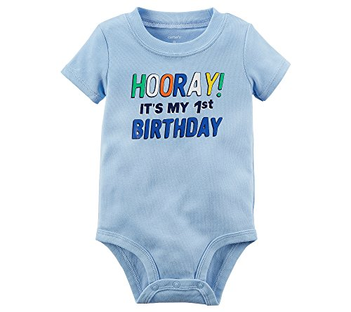 (Carter's Baby Boys' 1st Birthday Collectible Bodysuit 9 Months)