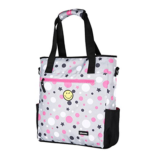 Bag Travel for Mommy Tote Ladies Advocator Dot Fit Emoji Shoulder 14 Polka Inch Handbag Cross Grey Multifunction body Laptop Diaper Bag Bag Bag Messenger xwq45YH4