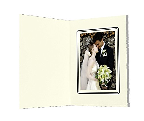 Golden State Art, Cardboard Photo Folder For a 3.5x5 Photo (Pack of 50) GS006 Ivory Color by Golden State Art